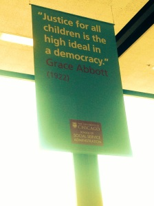 Inspirational banners hand in the lobby of the SSA.